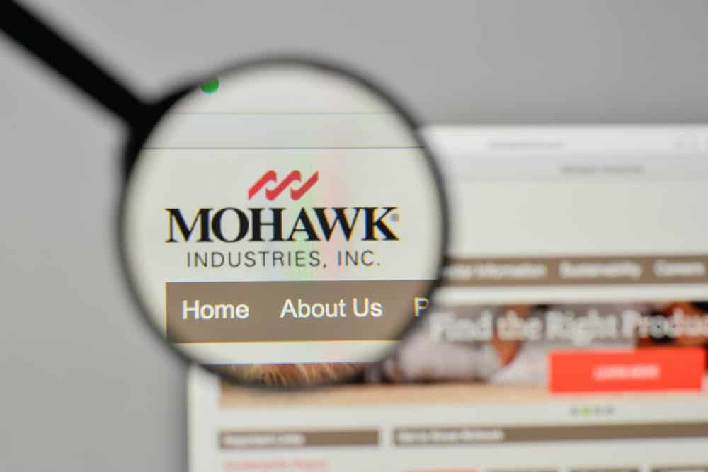 Mohawk Industries website homepage.