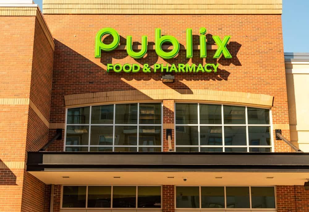 Publix company logo on a building exterior.