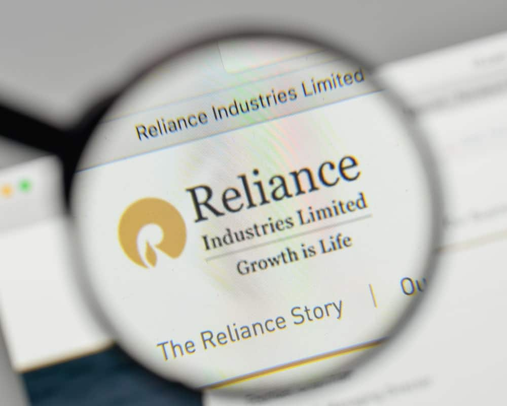 Reliance Industries Limited website homepage.