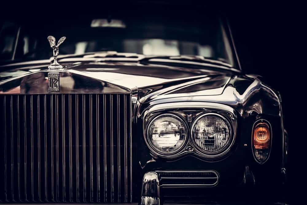 Rolls-Royce car closeup.