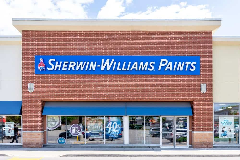 Sherwin-Williams storefront in Toronto.