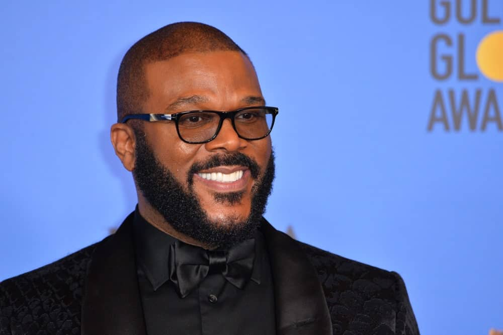 Tyler Perry at the 2019 Golden Globe Awards at the Beverly Hilton Hotel.