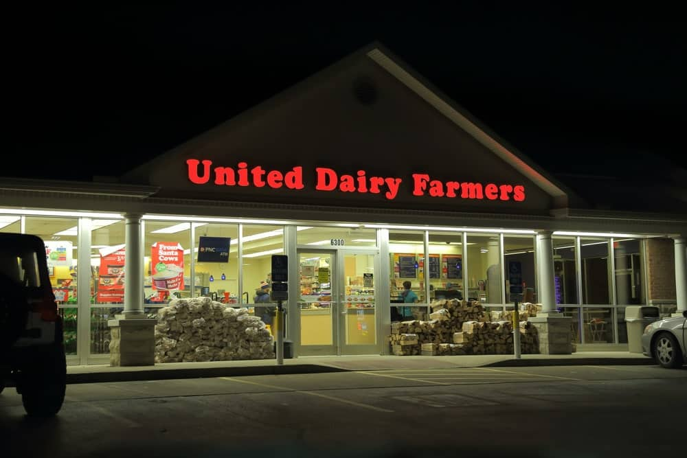 United Dairy Farmers (aka UDF) ice cream and convenience store chain location.