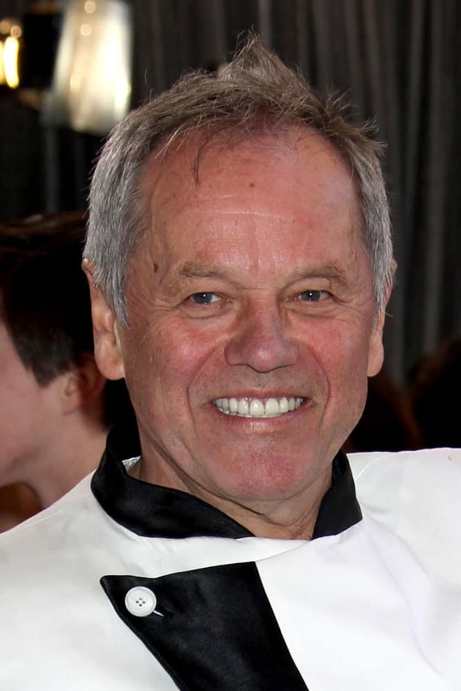 Wolfgang Puck arrives at the 85th Academy Awards presenting the Oscars at the Dolby Theater on February 24, 2013 in Los Angeles, CA.