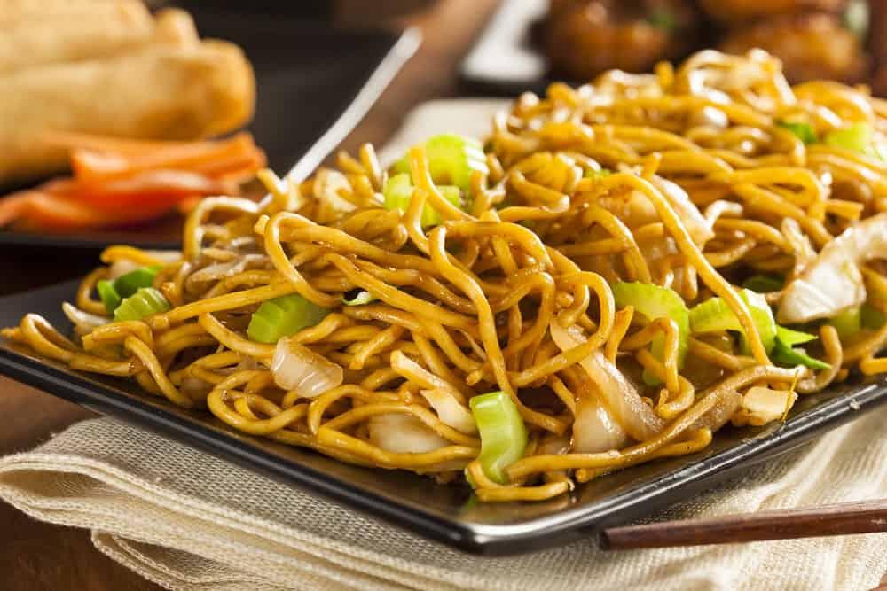 Asian chow mein noodles.