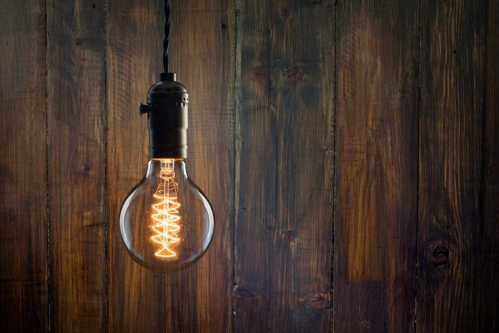 Incandescent Edison type bulb.