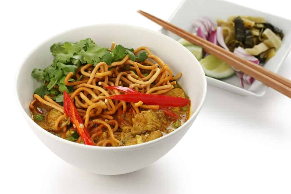 A bowl of Khao soi.