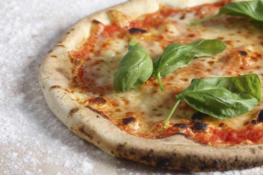 Whole Neapolitan pizza.