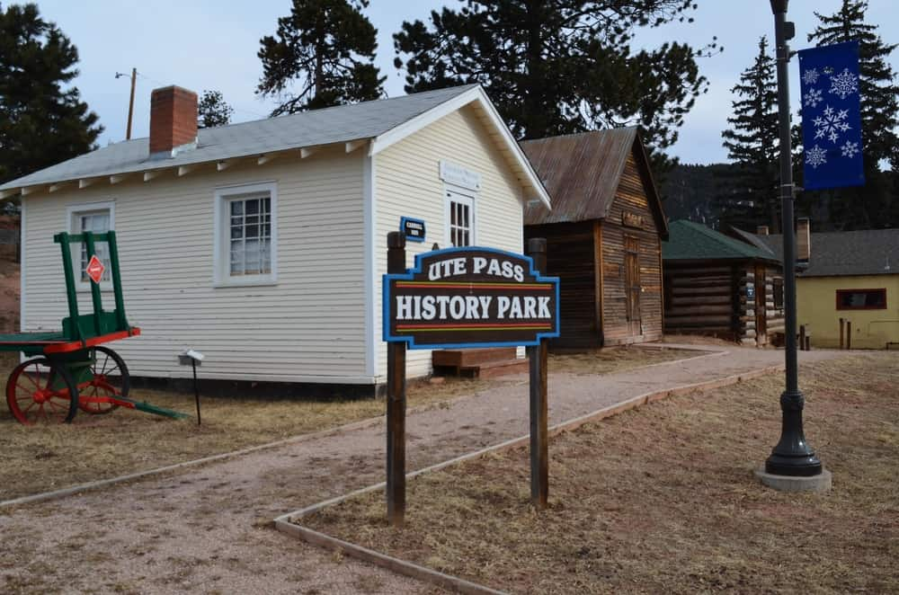 The Ute Pass History Park is a complex of historic buildings with museum about the history of the place, as well as a gift shop.