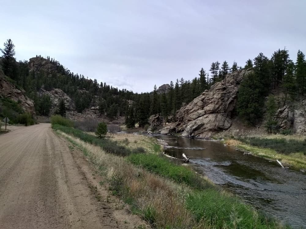 The Eleven Mile Canyon is a beautiful place and is very popular among fishermen.