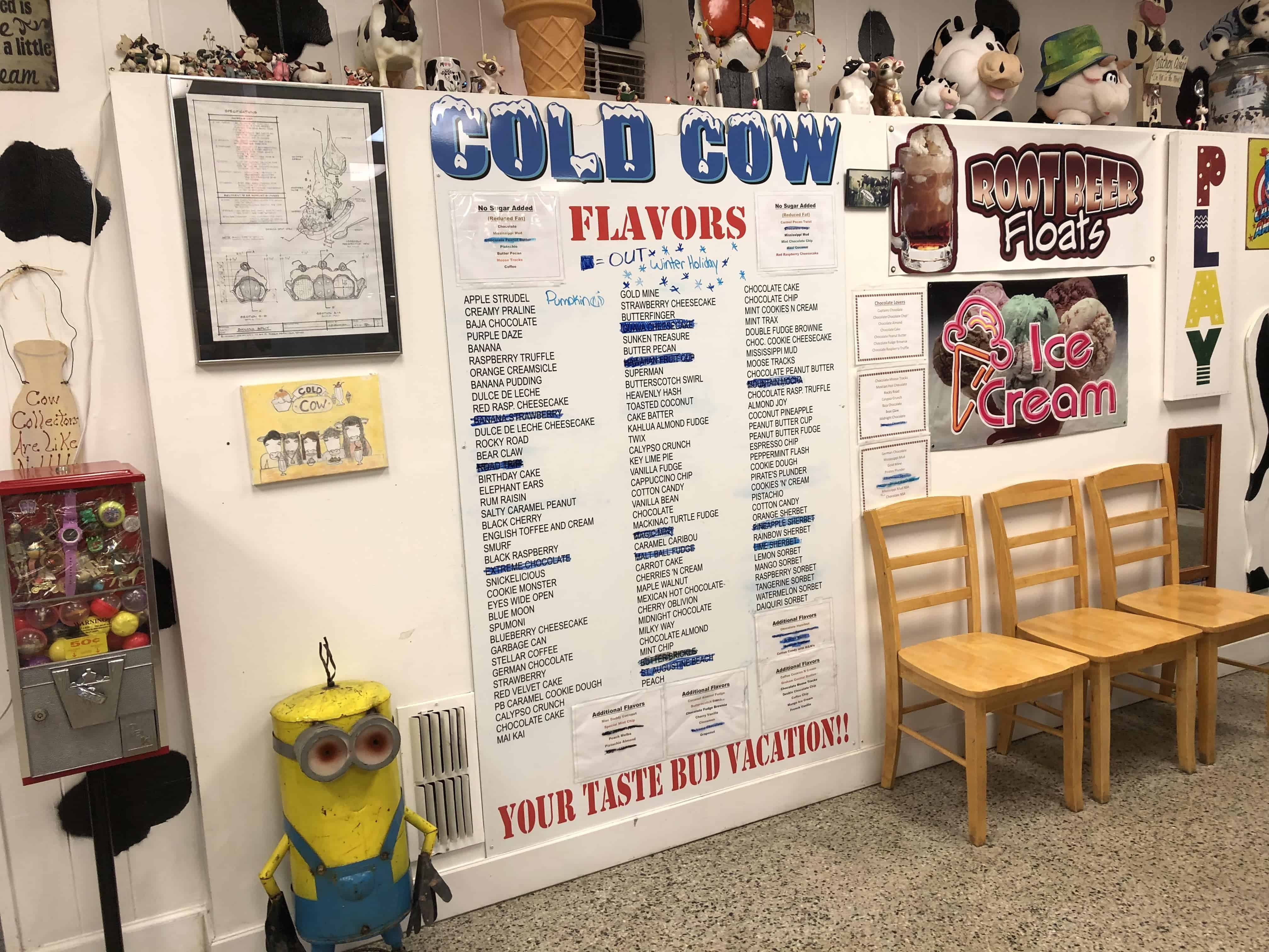 Cold Cow is a well-recommended place for ice cream or dessert lovers. What's great about this place is that they offer non-dairy options for lactose intolerant folks!