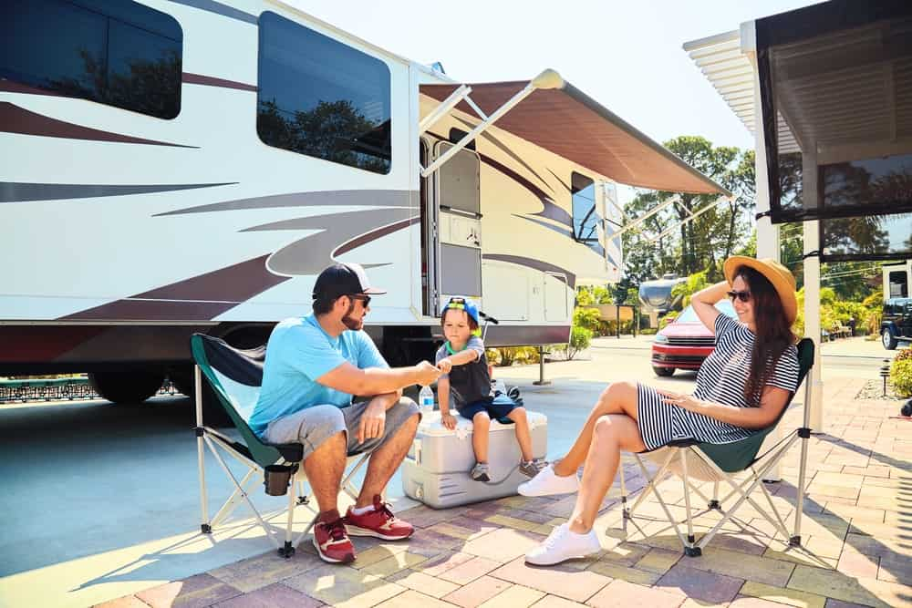 There are three campgrounds in Compass RV Resort. The Grove, the Pond and the Oasis. The resort also offers a salt-water swimming pool as well as a clubhouse!