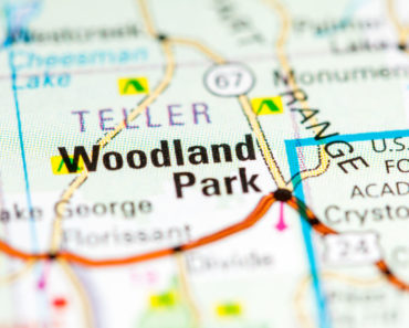 Map of Woodland Park, Colorado