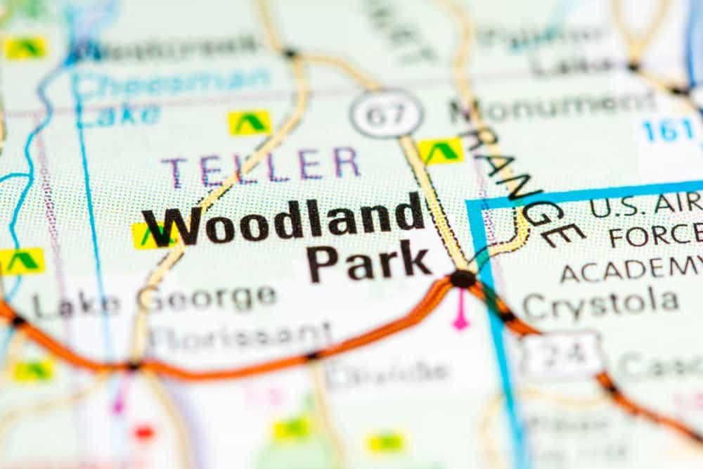 Map of Woodland Park, Colorado