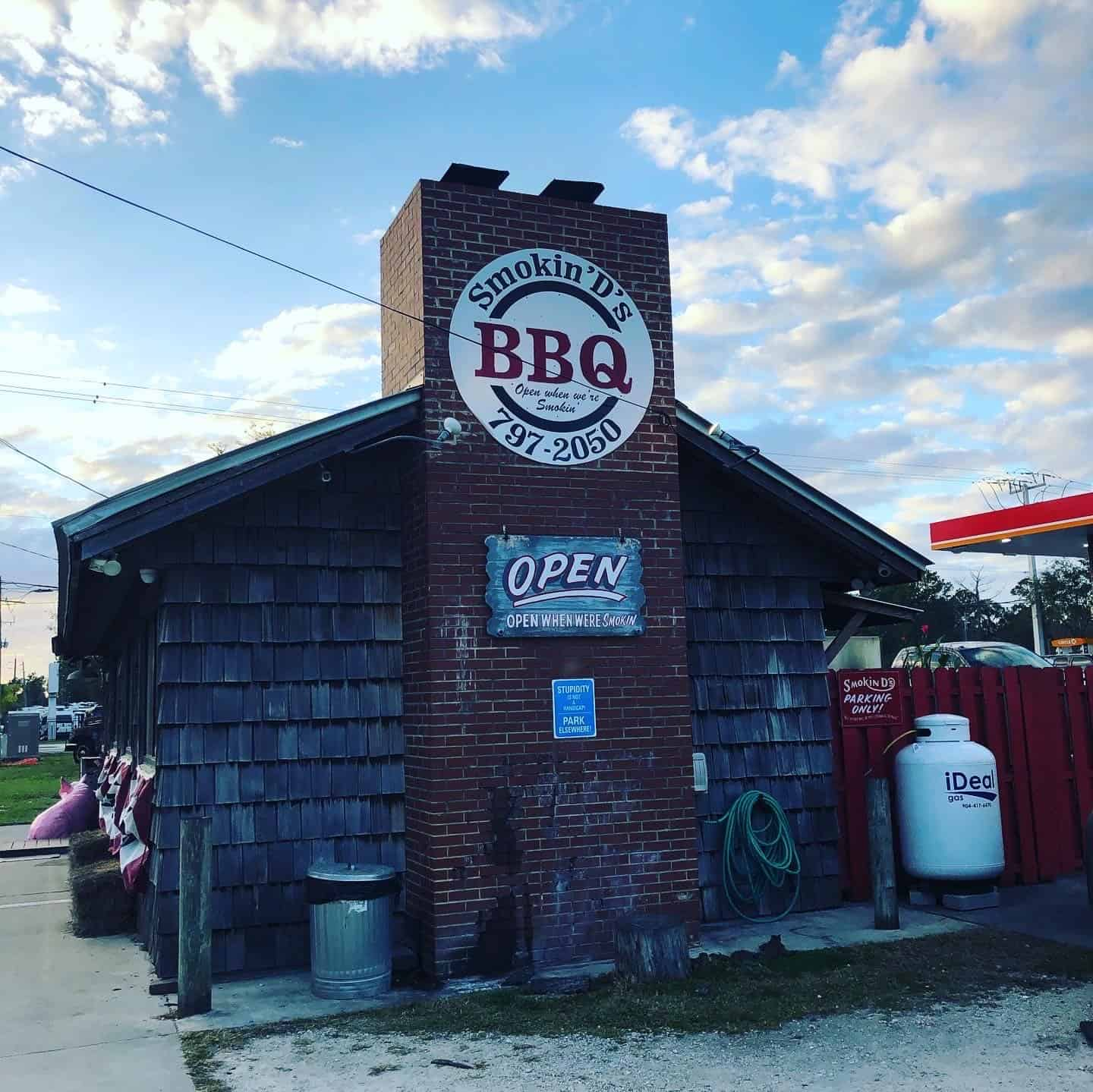 Smokin' D's BBQ is one of the best barbecue house in Florida! Here's the photograph of the building where the delicious BBQs are being served.