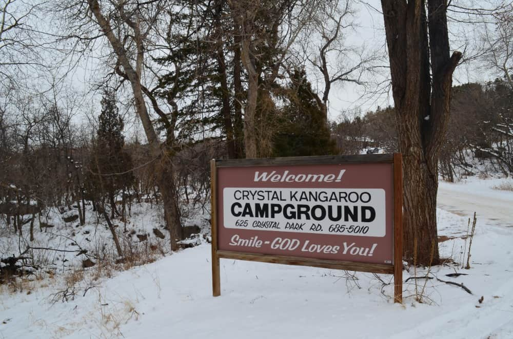 Crystal Kangaroo Campground is a good place for guests looking to enjoy quiet atmosphere with nice views, but it is a couple of miles away from downtown Manitou Springs.