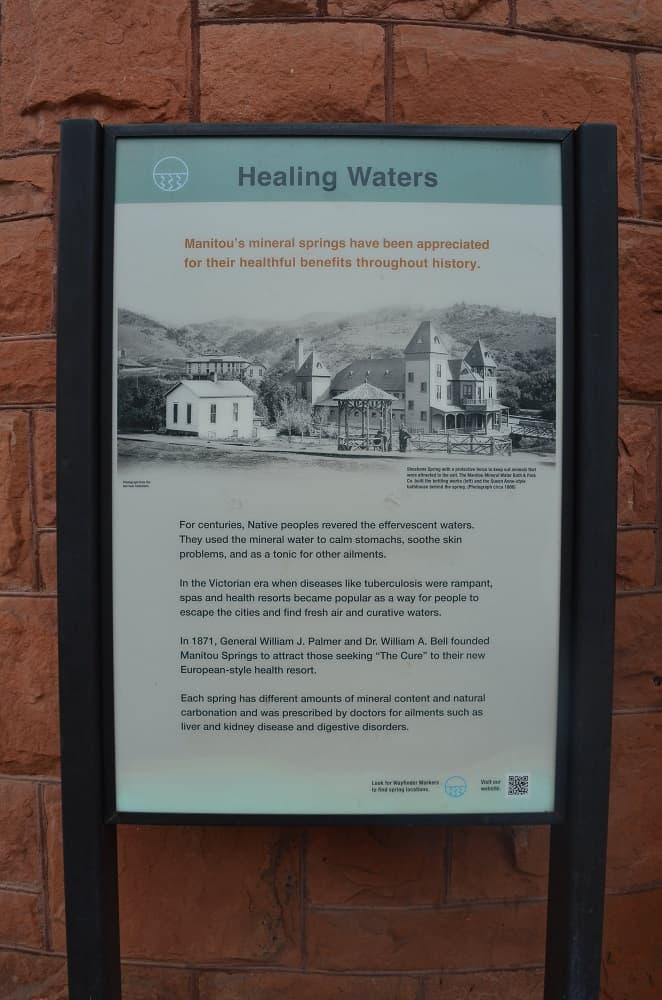 Informational Sign Near Shoshone Spring