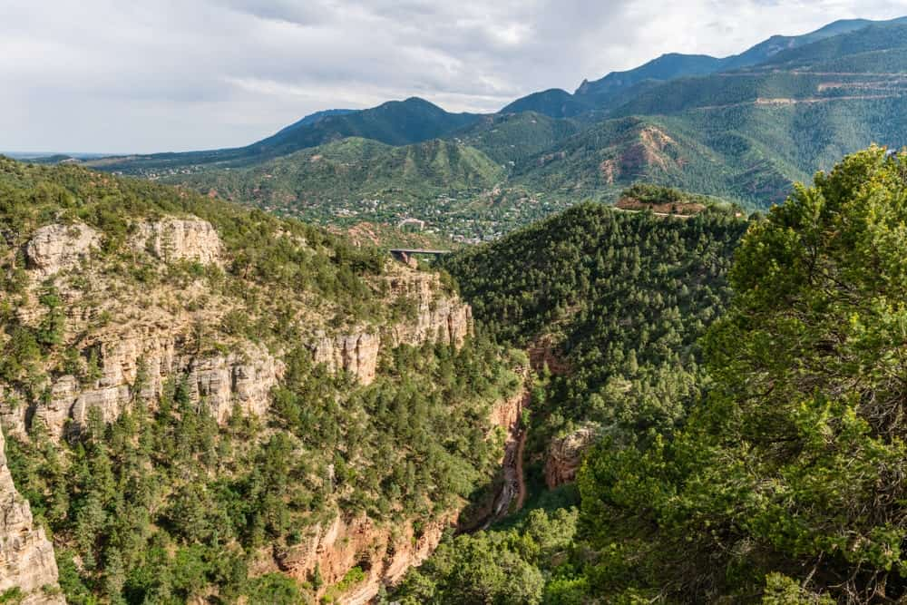 A gorgeous view of the nature surrounding the area. You can see this view from the Williams Canyon Trail and Waldo Canyon Loop Trail, that are currently closed temporarily.