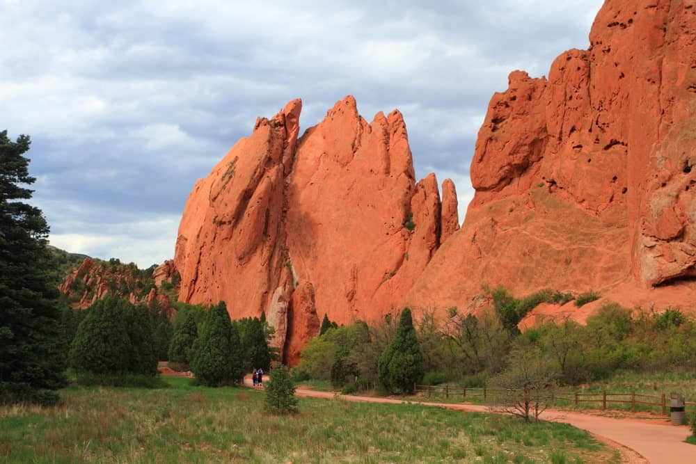 A view of the stunning Red Rock Canyon Open Space from the side of the pathway. It is so beautiful.