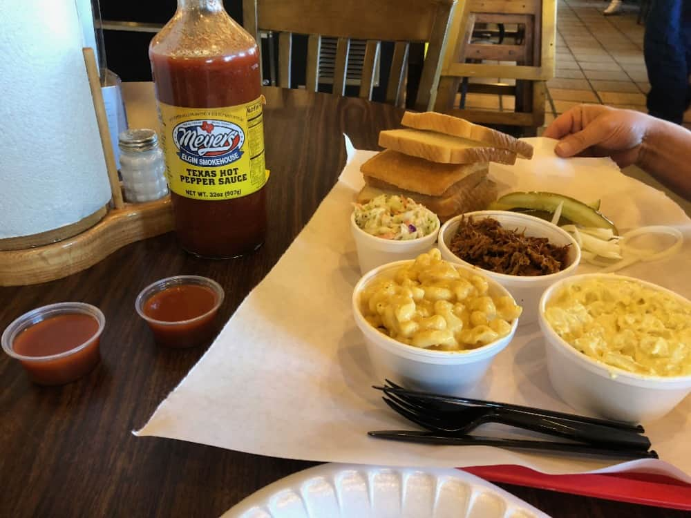 There are tons of BBQ joints in Texas, but if you ever find yourself in Bastrop County, then Meyer's Elgin Smokehouse is one of the best choices in the area for barbecues.