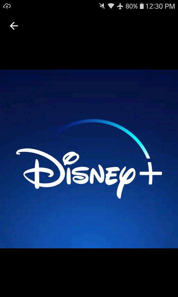 A screenshot of the Disney+ App logo.