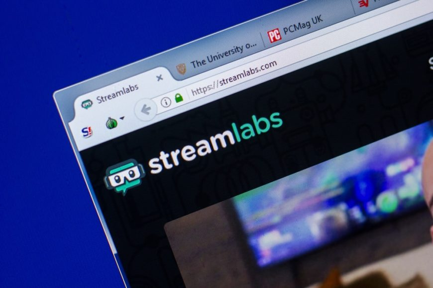 A look at the corner logo of Streamlabs in their homepage.