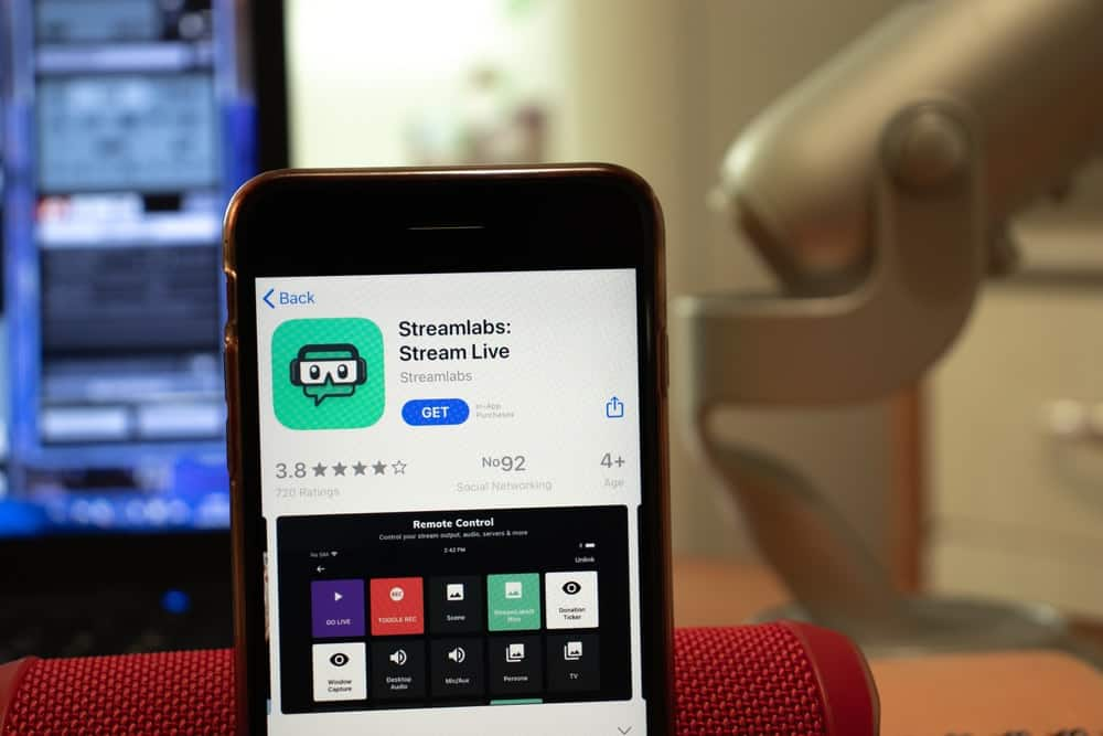The Streamlabs App as shown in the mobile app store.