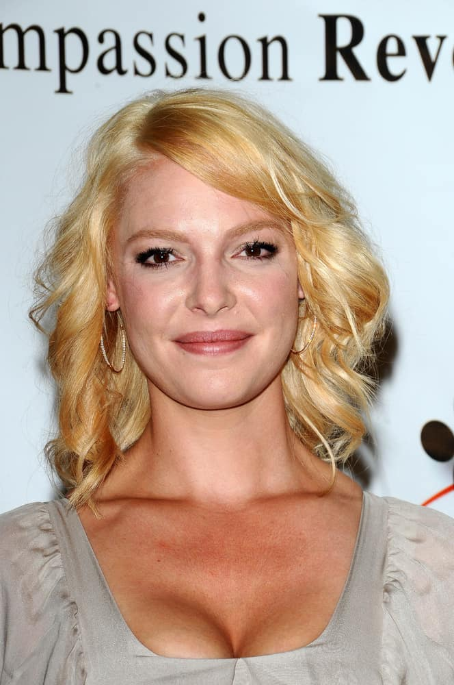 Katherine Heigl at a press conference for JDHF Animal Advocacy.