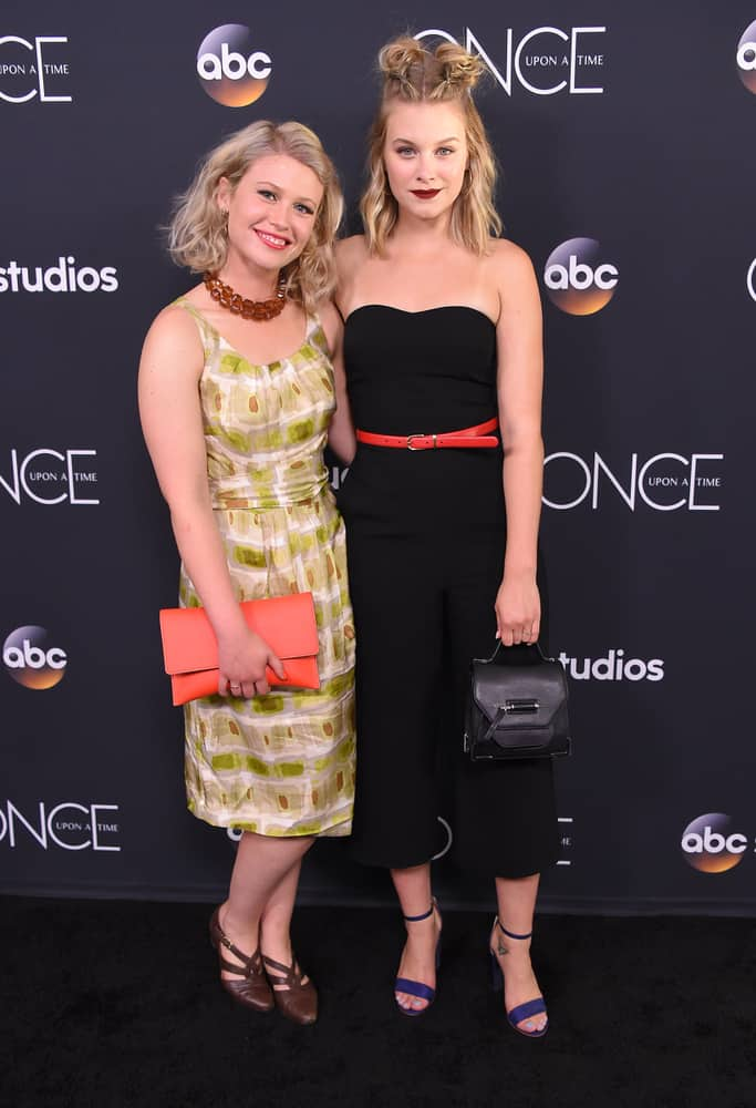 Rose Reynolds and Tiera Skovbye at the 'Once Upon A Time' Series Finale.
