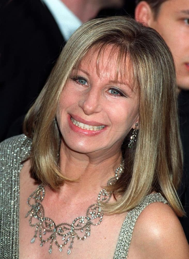 Barbara Streisand attended the Academy Awards on March 24, 1997.
