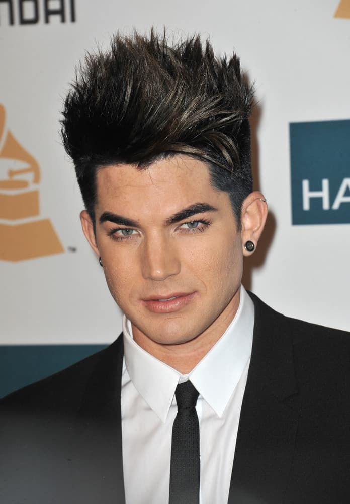 Adam Lambert attended the 2012 Clive Davis Pre-Grammy Party at the Beverly Hilton Hotel, Beverly Hills on February 11, 2012.