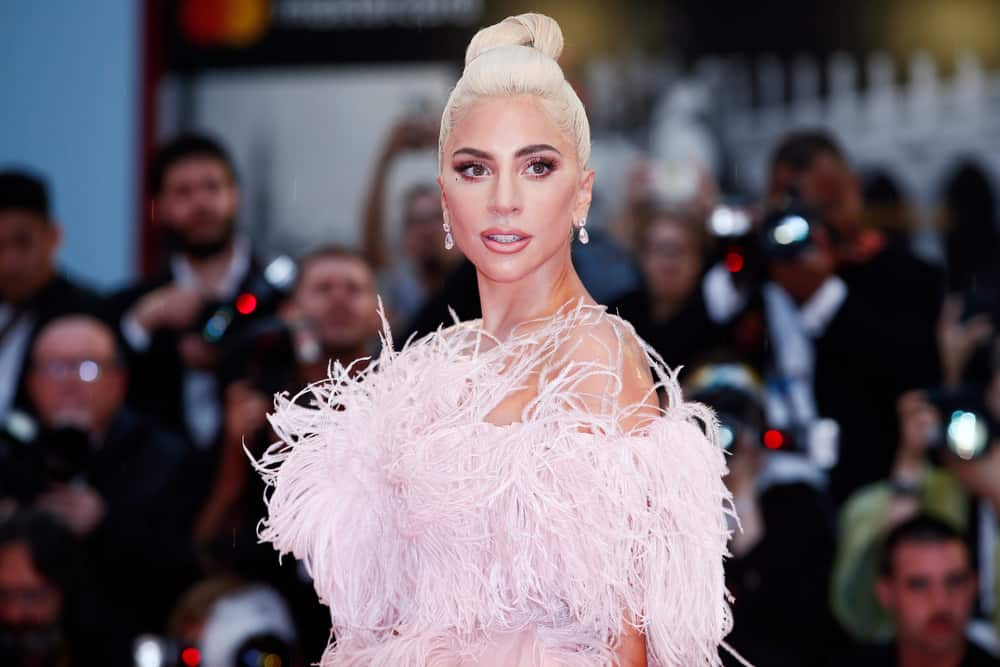 Lady Gaga attended the premiere of the movie 'A Star Is Born' during the 75th Venice Film Festival on August 31, 2018 in Venice, Italy.
