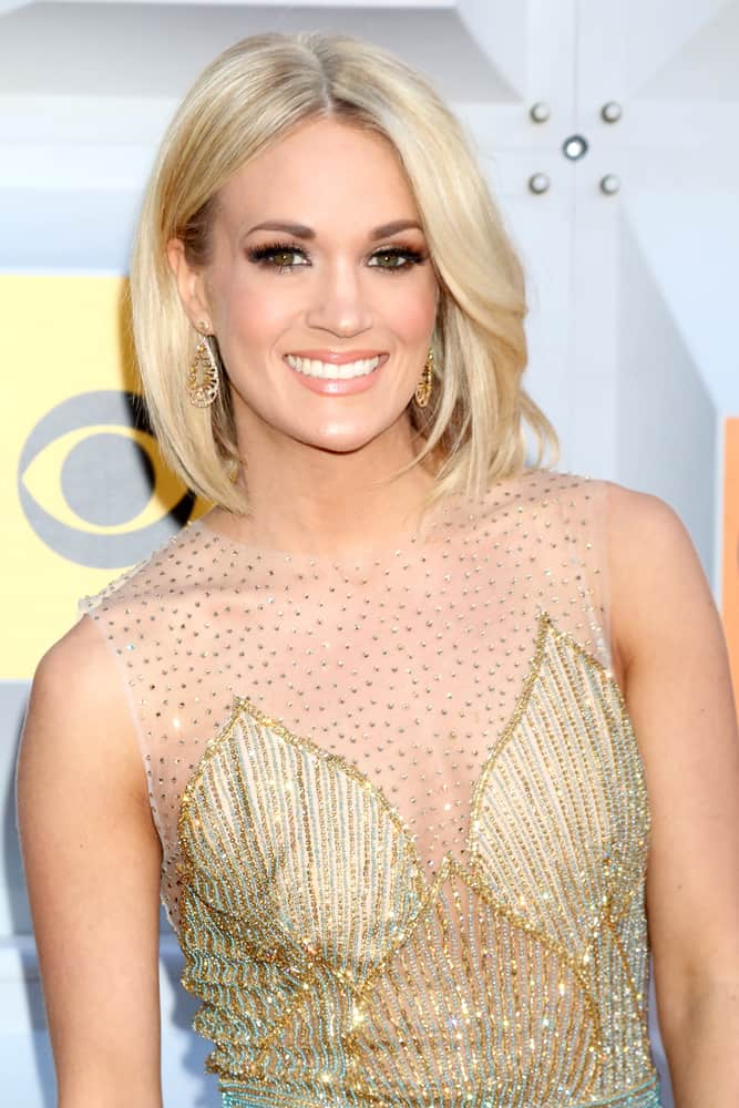 Carrie Underwood attended the 51st Academy of Country Music Awards Arrivals at the Four Seasons Hotel on April 3, 2016 in Las Vegas, NV.