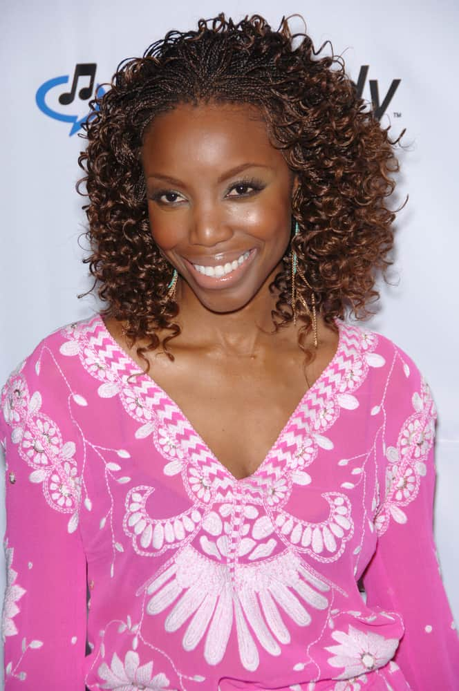 Heather Headley attended the music mogul Clive Davis' annual pre-Grammy party at the Beverly Hilton Hotel.
