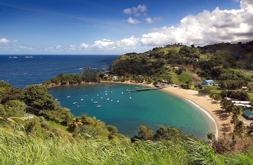This is a look at the beach of the Republic of Trinidad and Tobago.
