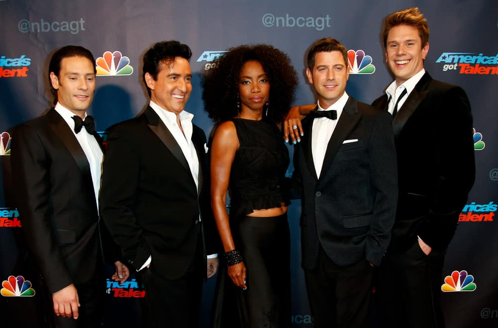 """Il Divo and Heather Headley attended the post-show red carpet of """"America's Got Talent: The Finale""""."""