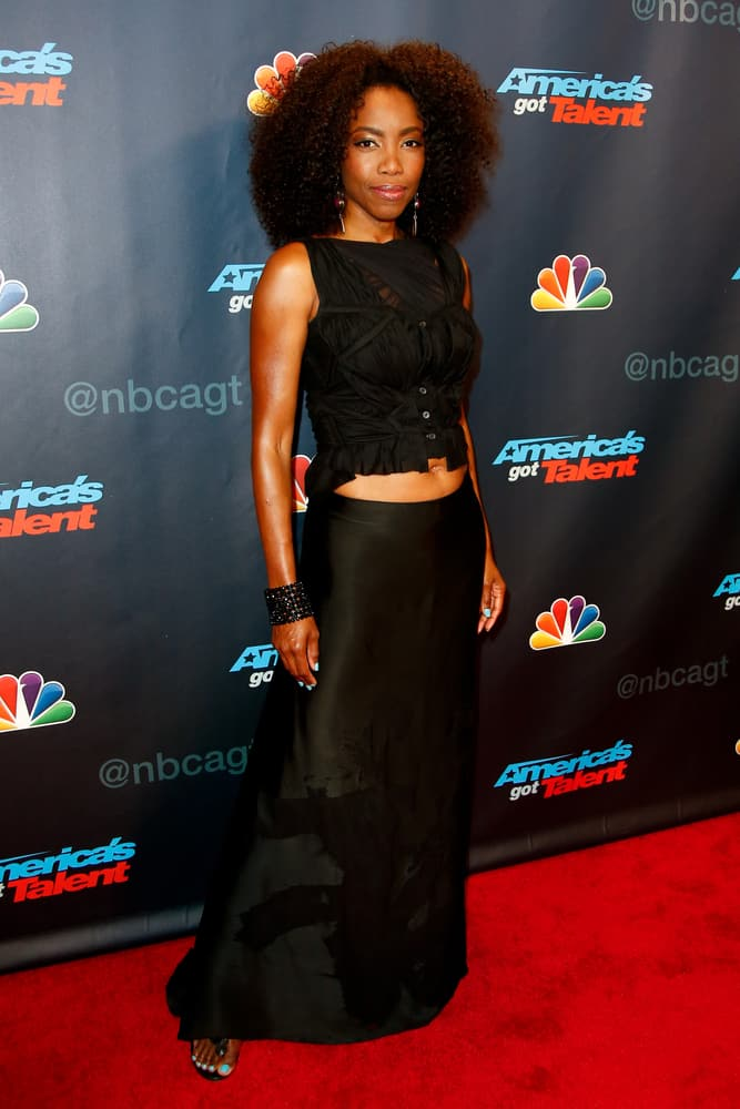 """Singer Heather Headley attended the post-show red carpet of """"America's Got Talent: The Finale"""" Season 8."""
