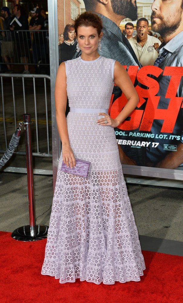"""Joanna Garcia Swisher attended the world premiere of """"Fist Fight"""" at the Regency Village Theatre in Westwood, Los Angeles."""