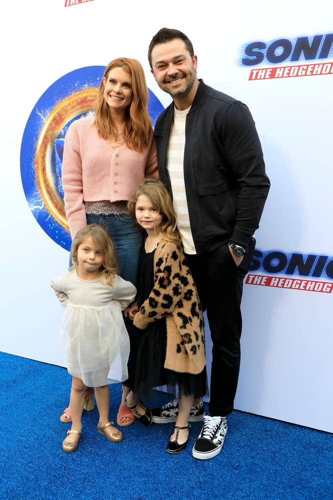Joanna Garcia, Nick Swisher, Sailor Swisher and Emerson Swisher attended the Sonic The Hedgehog Family Day Event at the Paramount Theatre on January 25, 2020 in Los Angeles, CA.