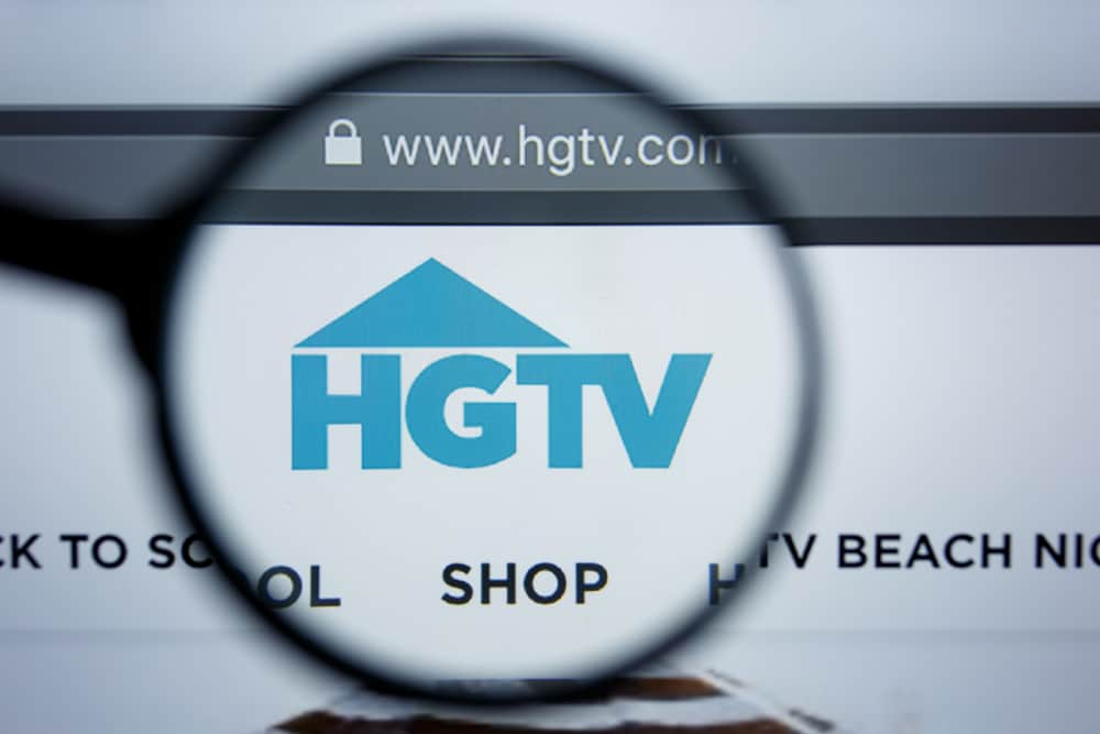 This is a close look at the HGTV logo on its website.