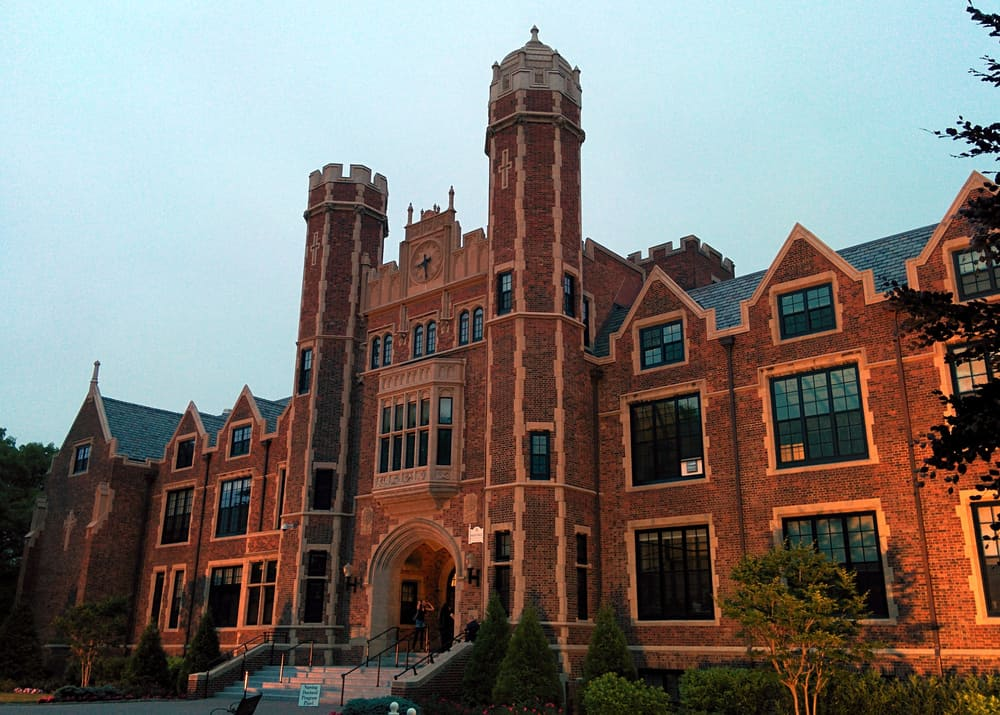 This is the main hall of Wagner College in Staten Island.