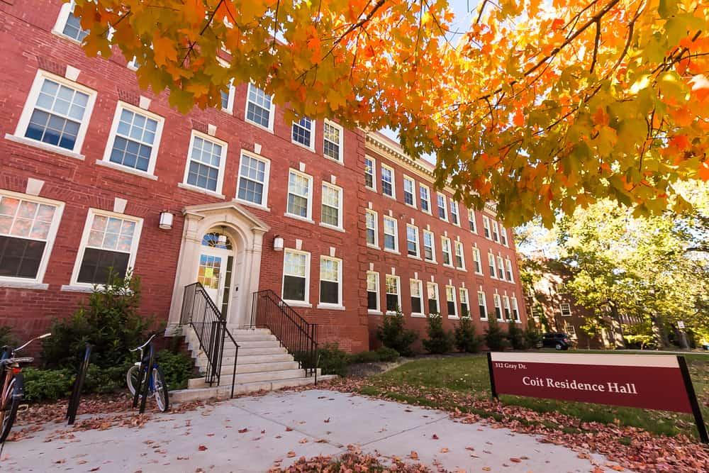 """Shaw Hall and """"The Quad"""" at the University of North Carolina at Greensboro."""