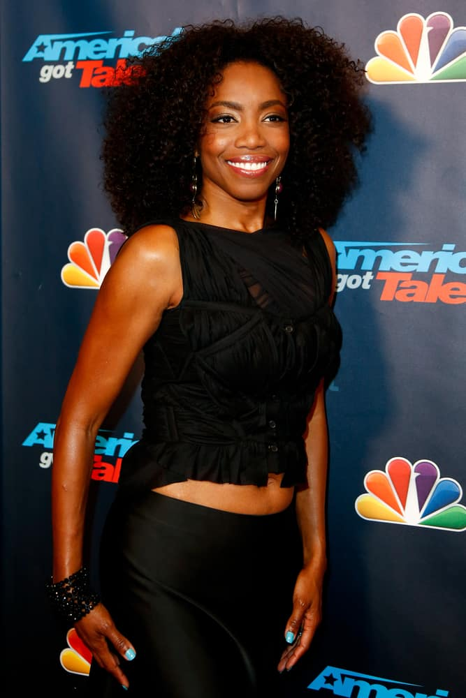 """Heather Headley at the post-show red carpet of """"America's Got Talent: The Finale"""" Season 8."""