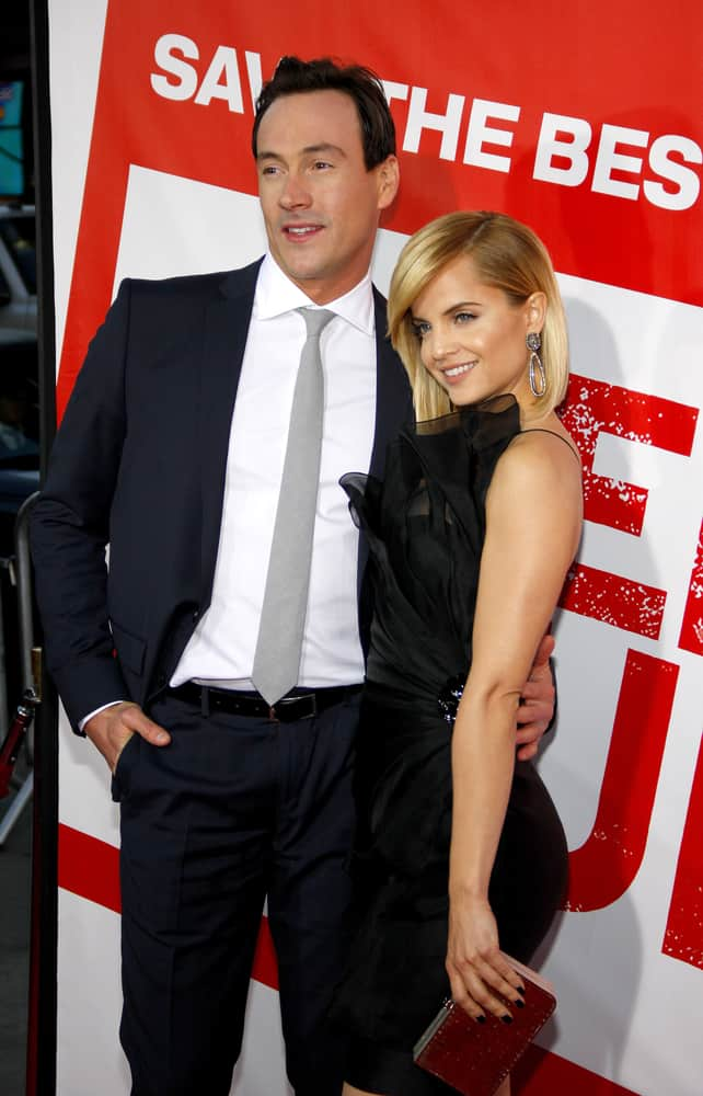 Mena Suvari and Chris Klein attended the Los Angeles premiere of 'American Reunion' held at the Grauman's Chinese Theater in Hollywood on March 19, 2012.