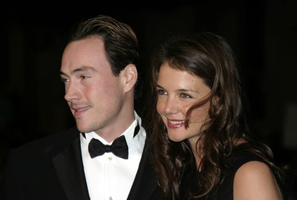 """Chris Klein and Katie Holmes attended the """"Ocean's Twelve"""" Los Angeles Premiere held at the Grauman's Chinese Theater in Los Angeles, California."""