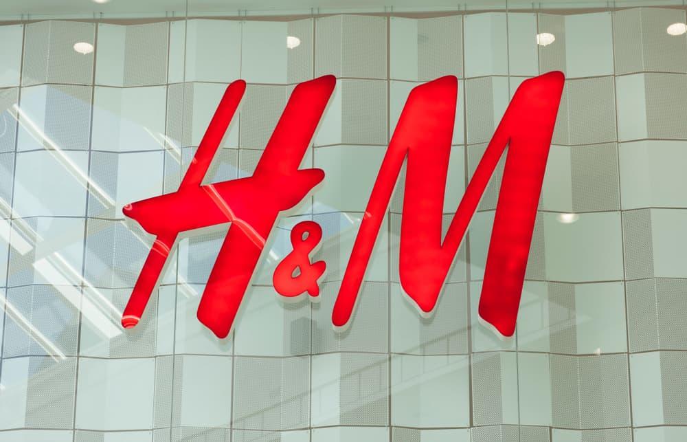 Closeup of H&M sign