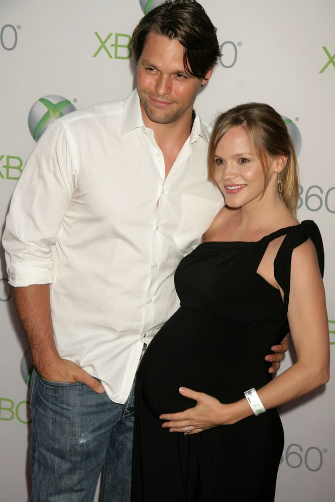 """Justin Bruening and wife Alexa Havins attended the World Premiere of """"Project Natal"""" for XBOX 360 Imagined by Cirque Du Soleil at the Galen Center in Los Angeles."""