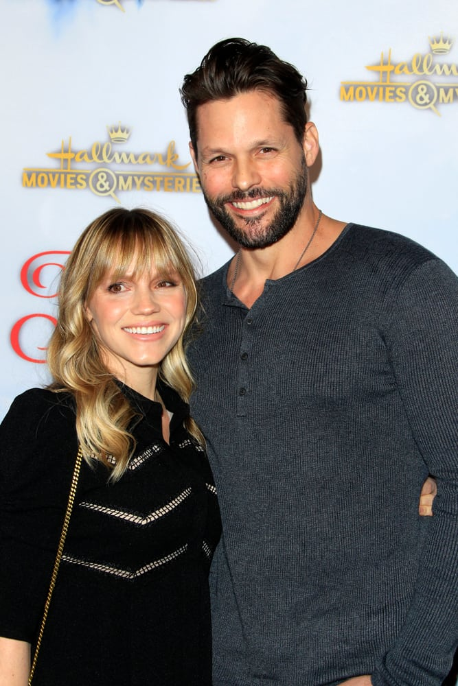 """Alexa Havins and Justin Bruening attended the """"Once Upon A Christmas Miracle"""" Screening and Holiday Party at the 189 by Dominique Ansel on December 4, 2018 in Los Angeles, CA."""