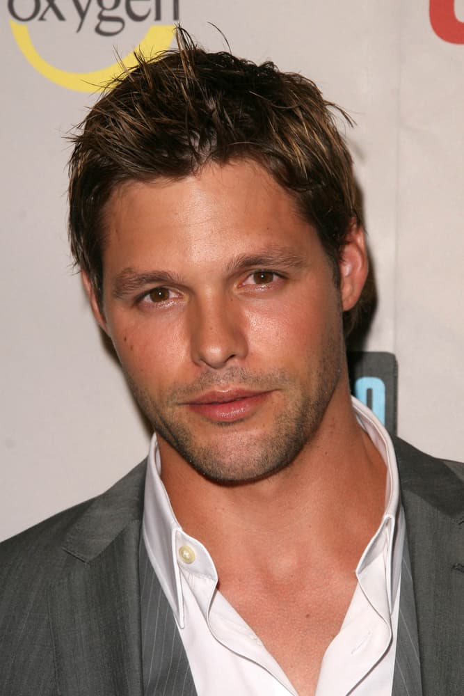 Justin Bruening attended the NBC Universal 2008 Press Tour All Star Party at the Beverly Hilton Hotel in Beverly Hills, CA.