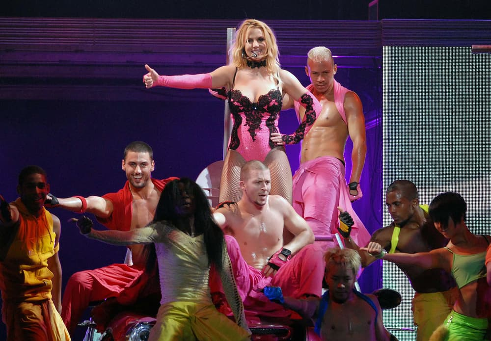 Britney Spears performed on stage during her show at the Apoteose in the city of Rio de Janeiro, Brazil.